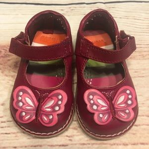 "Gymboree ""Butterfly Girl"" Infant Mary Janes Shoes"
